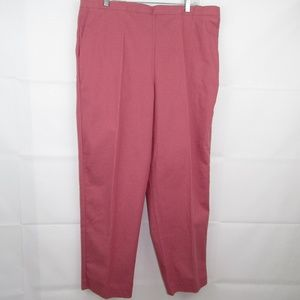 Alfred Dunner Elastic Waist Pants Plus Size 18 New